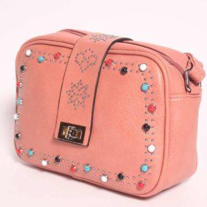 Bolso de tachas rosa